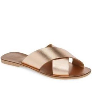 Seychelles Rose Gold Total Relaxation Flat Slide
